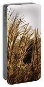 Golden Grass Flowers Portable Battery Charger