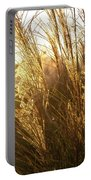 Golden Grass In Sunset Portable Battery Charger