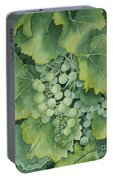 Golden Green Grapes Portable Battery Charger
