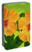 Golden Hawaii Hibiscus Flower #25 Portable Battery Charger