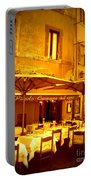 Golden Italian Cafe Portable Battery Charger by Carol Groenen