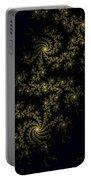 Golden Lace On Black Velvet Portable Battery Charger