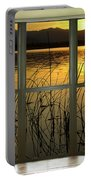Golden Lake Bay Picture Window View Portable Battery Charger