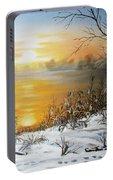 Golden Lake Sunrise  Portable Battery Charger
