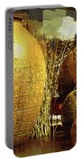 Golden Large Fountain Urns Portable Battery Charger