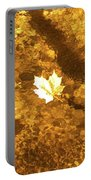 Golden Leaf In Water Portable Battery Charger