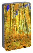 Golden Light Of The Aspens - Colorful Colorado - Aspen Trees Portable Battery Charger