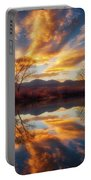 Golden Light On The Pond Portable Battery Charger