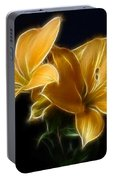 Golden Lilies Portable Battery Charger