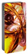 Golden Maelstrom Abstract Portable Battery Charger