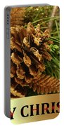 Golden Merry Christmas  Portable Battery Charger