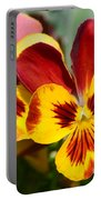 Golden Pansies Portable Battery Charger