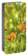 Golden Poppies In A Gentle Breeze  Portable Battery Charger