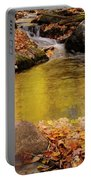 Golden Reflections In A Stream On The Blanchet Trail Gatineau Pa Portable Battery Charger