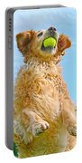 Golden Retriever Catch The Ball  Portable Battery Charger