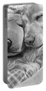 Golden Retriever Dog And Friend Portable Battery Charger by Jennie Marie Schell