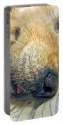 Golden Retriever Dog Little Tongue Portable Battery Charger by Jennie Marie Schell