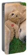 Golden Retriever Dog Teddy Bear Love Portable Battery Charger