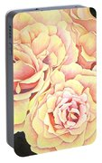 Golden Roses Portable Battery Charger