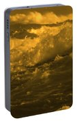 Golden Sea Waves Graphic Digital Poster Art By Navinjoshi At Fineartamerica.com Ideal For Wall Decor Portable Battery Charger