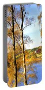 Shades Of Gold Portable Battery Charger