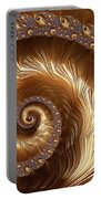 Golden Sparkling Spiral Portable Battery Charger