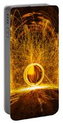 Golden Spinning Sphere Portable Battery Charger