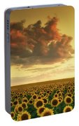 Golden Sunflower Skies Portable Battery Charger