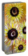 Golden Sunflowers Portable Battery Charger