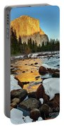 Golden Sunset - El Capitan In Yosemite National Park. Portable Battery Charger