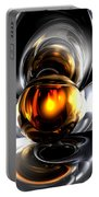 Golden Tears Abstract Portable Battery Charger