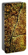 Golden Texture Abstract Portable Battery Charger