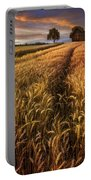 Golden Waves Of Grain Portable Battery Charger