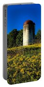 Goldenrod Surrounded Silo Portable Battery Charger