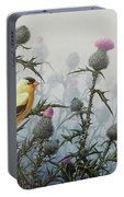 Goldfinch And Thistles Portable Battery Charger
