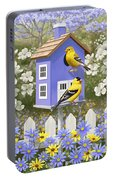 Goldfinch Garden Home Portable Battery Charger by Crista Forest