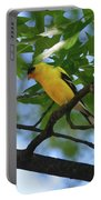 Goldfinch In Oak Tree Portable Battery Charger