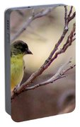 Goldfinch On Branch 032814a Portable Battery Charger