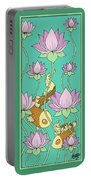 Goldfish And Lotus Portable Battery Charger