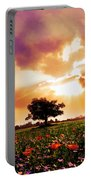 Golds At Sunset After The Rain Portable Battery Charger