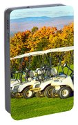 Golf Carts On Vermont Golf Course Portable Battery Charger