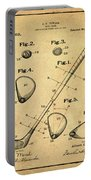 Golf Club Patent 1910 Sepia Portable Battery Charger