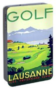 Golf, Lausanne, Switzerland, Travel Poster Portable Battery Charger