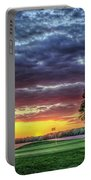 Golf Sunset Number 4 The Landing Reynolds Plantation Golf Art Portable Battery Charger