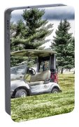 Golfing Before The Rain Golf Cart 03 Portable Battery Charger