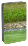 Golfing Chipping The Ball In Flight Portable Battery Charger
