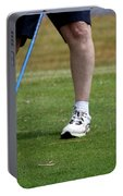 Golfing Driving The Ball In Flight Portable Battery Charger