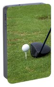 Golfing Lining Up The Driver Portable Battery Charger