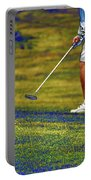 Golfing Putting The Ball 02 Pa Portable Battery Charger