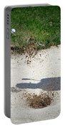 Golfing Sand Trap The Ball In Flight 01 Portable Battery Charger